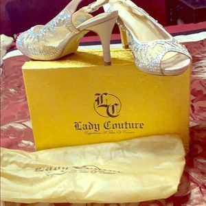 Lady couture sling back size 7 worn one time